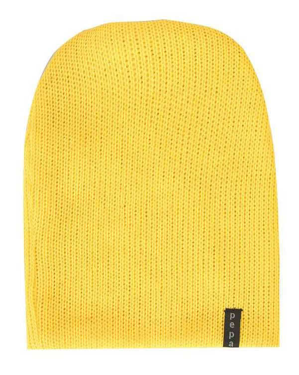 کلاه بافت زرد پپا