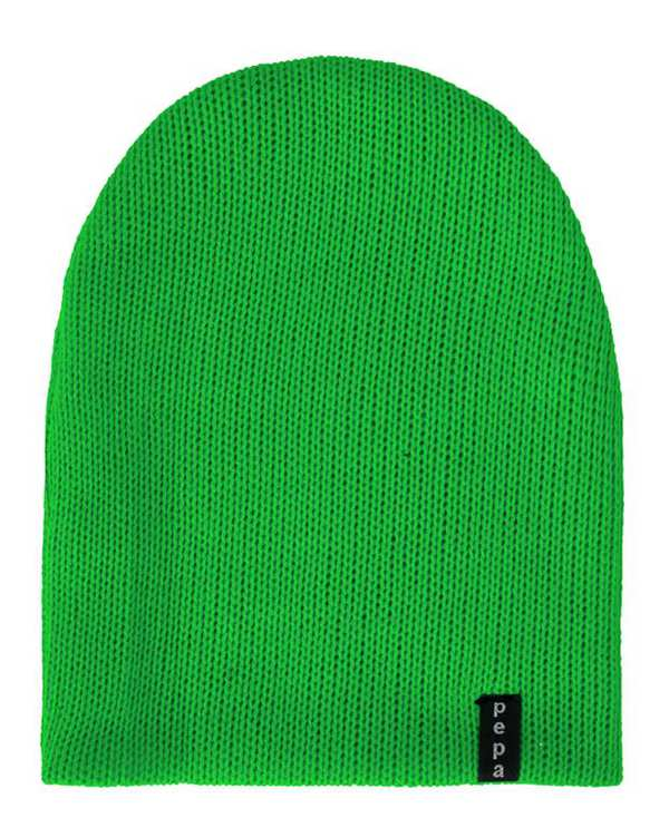 کلاه بافت سبز پپا
