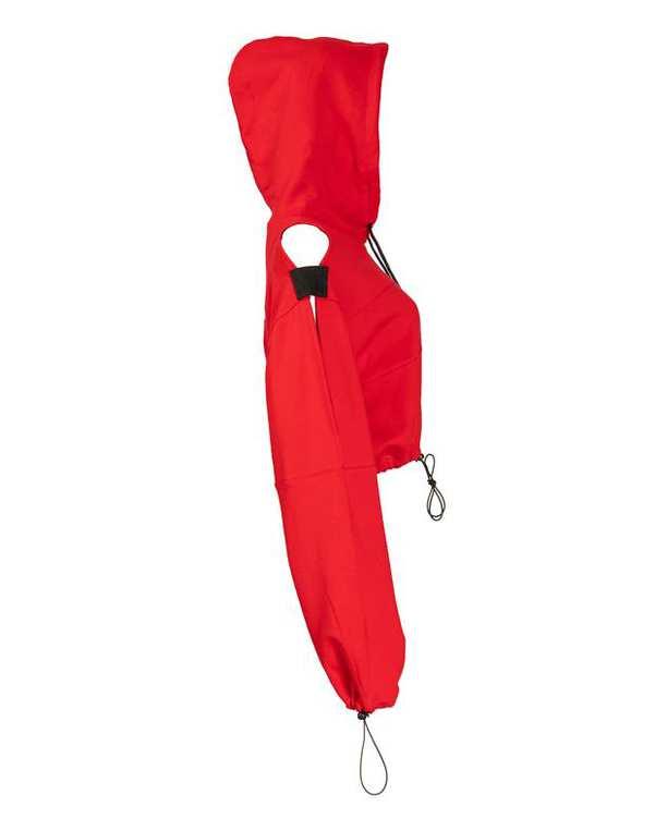 هودی زنانه کوتاه دورس قرمز پپا