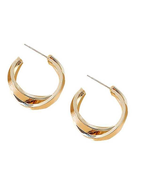 گوشواره دو حلقه طلایی کامیلا کنتی