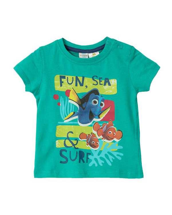 تی شرت پسرانه نوزادی نخی سبز ال سی وایکیکی