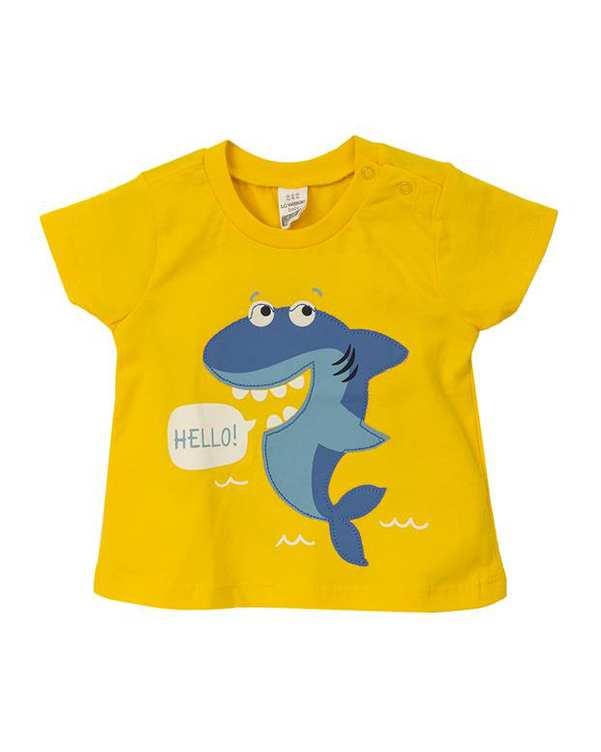 تی شرت پسرانه نوزادی نخی زرد ال سی وایکیکی