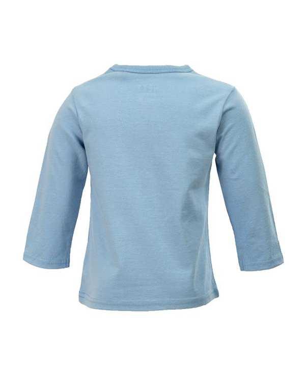 تی شرت پسرانه نوزادی آستین بلند نخی آبی نکست