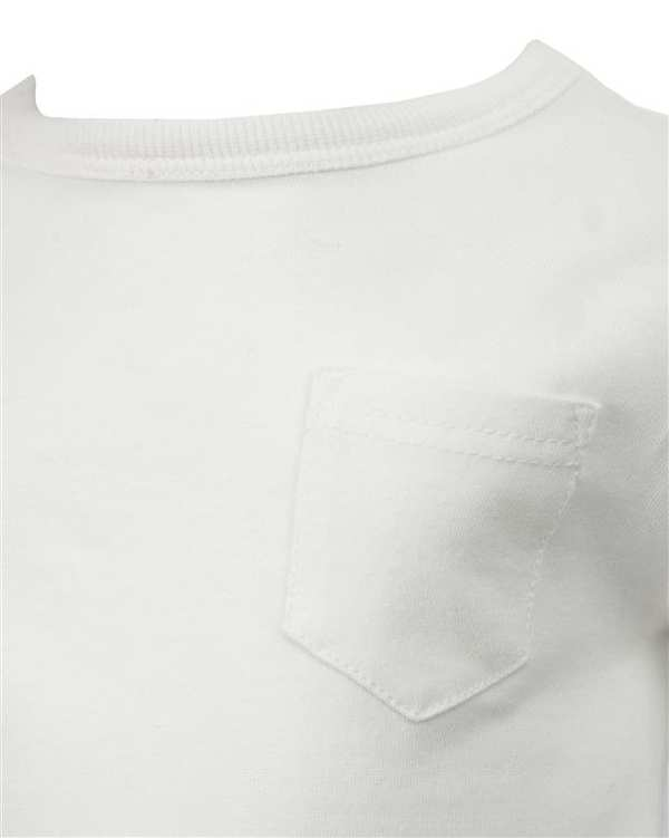 تی شرت نوزادی آستین بلند نخی سفید نکست
