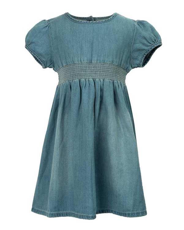 پیراهن دخترانه جین آبی روشن نکست