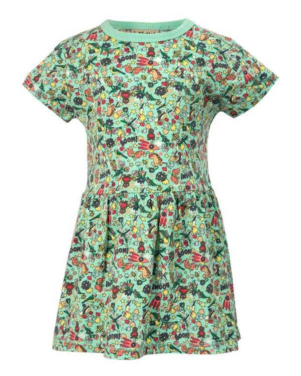 پیراهن دخترانه نوزادی نخی سبز نکست