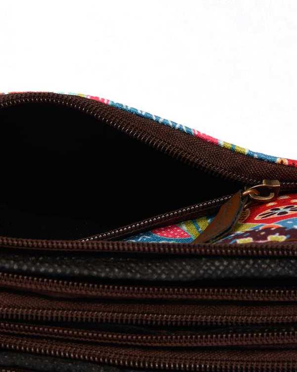 کیف دوشی زنانه مدل یاس طرح جغد چند رنگ وندی