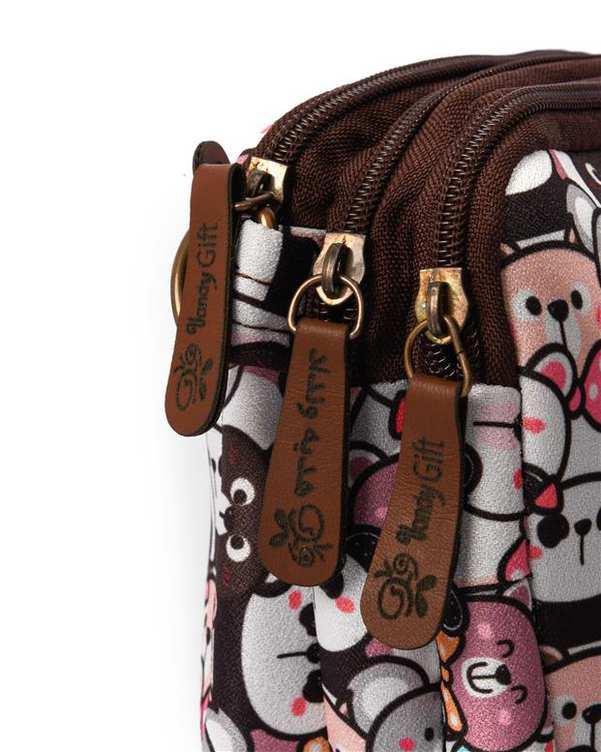 کیف دوشی زنانه مدل یاس طرح خرسی چند رنگ وندی