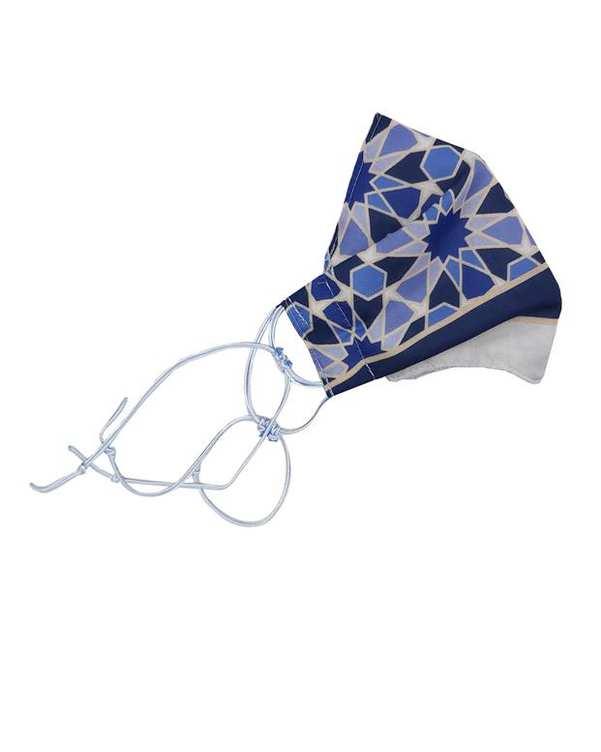 ماسک تنفسی زنانه سرمه ای آبی آویزه