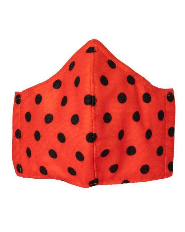 ماسک تنفسی زنانه قرمز مشکی خال خالی آکوکرفتز