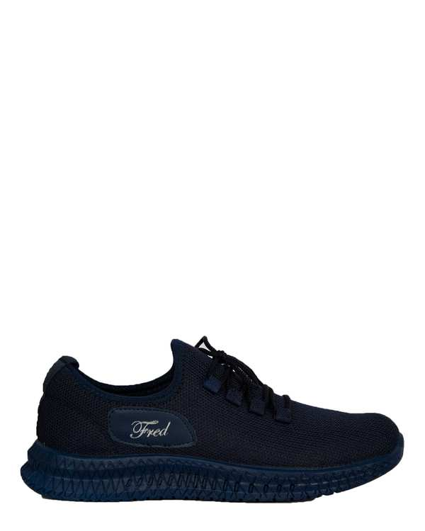 کفش مردانه ورزشی جورابی سرمه ای فرد