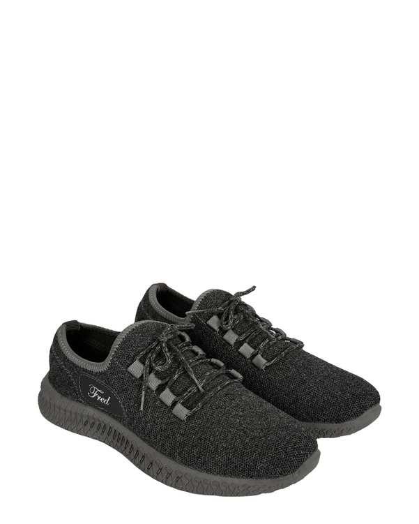 کفش مردانه ورزشی جورابی طوسی تیره فرد