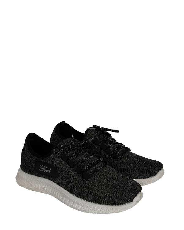 کفش مردانه کژوال جورابی زغالی فرد