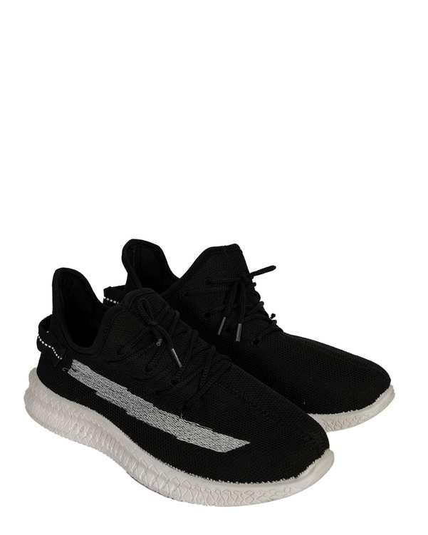 کفش مردانه ورزشی جورابی مشکیفرد