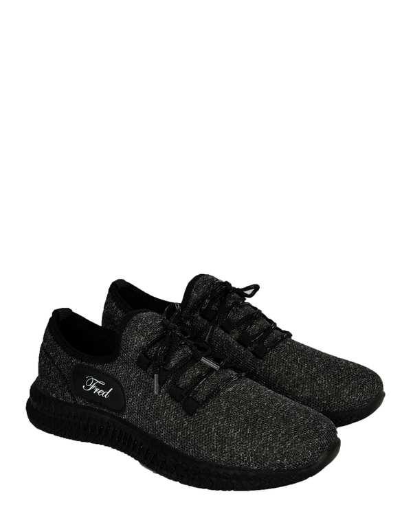 کفش مردانه ورزشی جورابی زغالی فرد