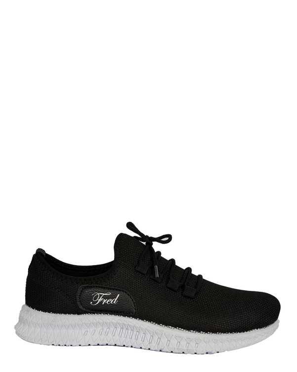 کفش مردانه ورزشی جورابی مشکی فرد