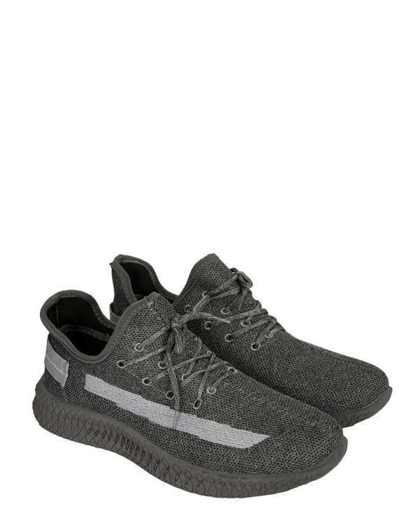 کفش مردانه ورزشی جورابی طوسی فرد
