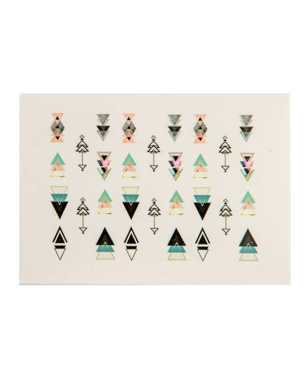 استیکر لنز ناخن طرح فلش و اشکال هندسی مثلثی نیل استیکرز