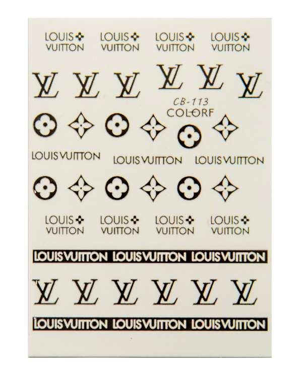 استیکر لنز ناخن طرح لوگو LV نیل استیکرز