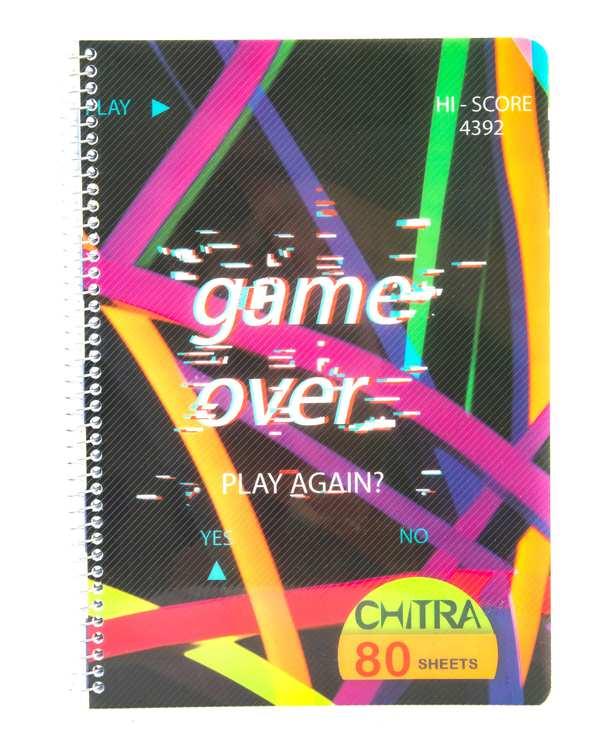 دفتر زبان طلقی سیمی 80 برگ طرح نوشته لاتین چیترا