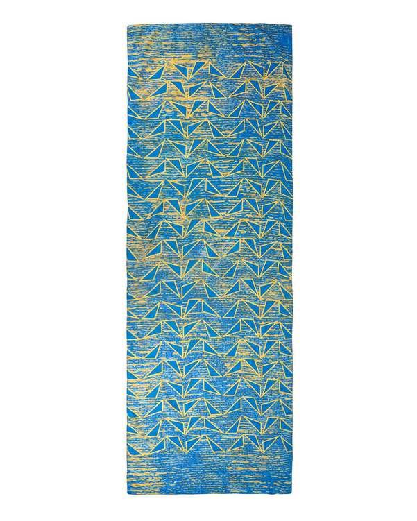 شال زنانه مدل Aquila 10 آبی زرددالوتی