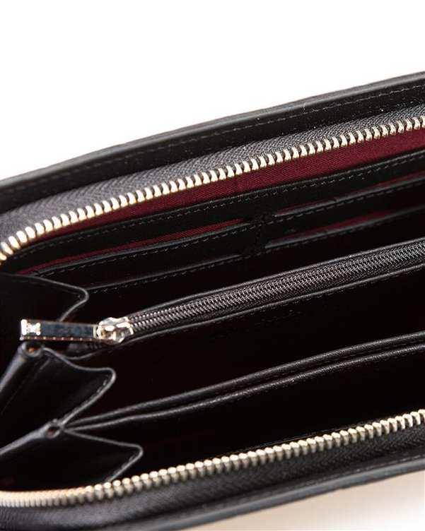 کیف چرم گاوی پاسپورتی مردانه مشکی درسا