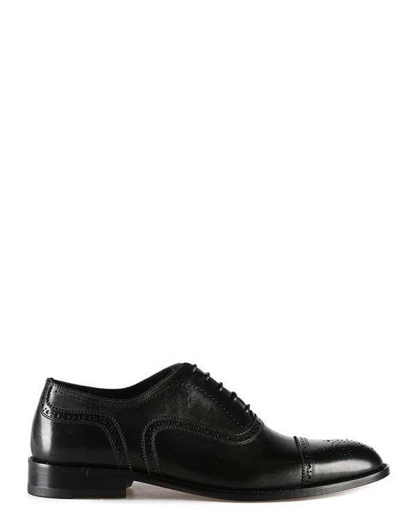 کفش چرم گاوی مردانه آکسفورد مشکی درسا