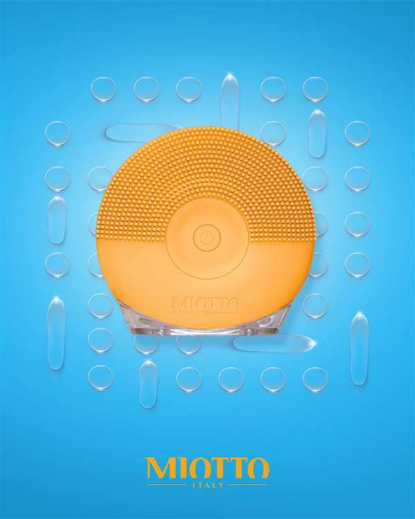 برس پاکسازی شارژی صورت مدل Lominoso نخودی Miotto