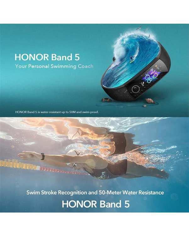 ساعت هوشمند آنر مشکی مدل Band 5 Global