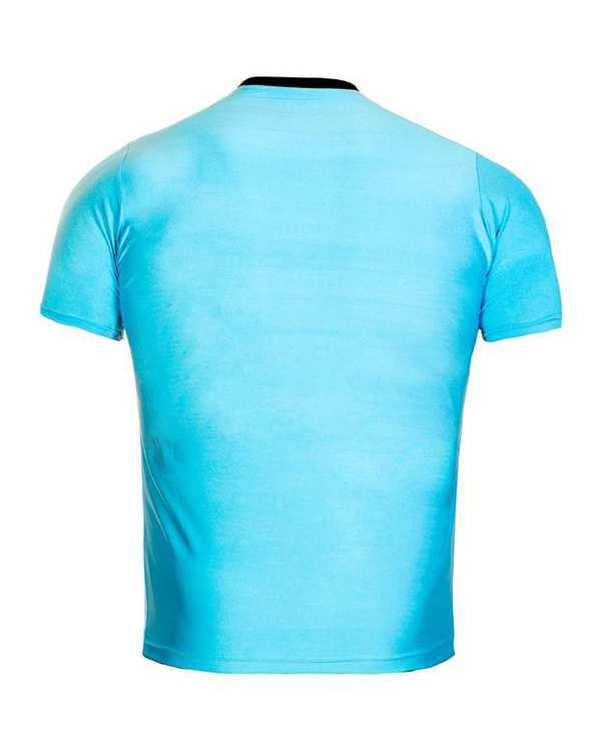 تی شرت مردانه فیروزه ای TS134 تکنیک