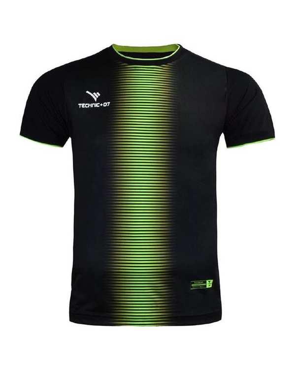 تی شرت ورزشی مردانه مشکی فسفری TS130 تکنیک