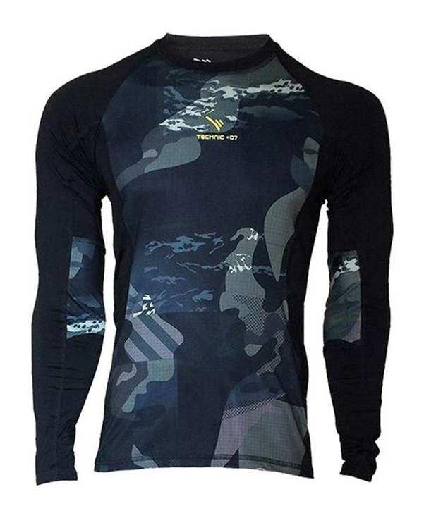 تی شرت ورزشی مردانه مشکی طرح دار TS126 تکنیک