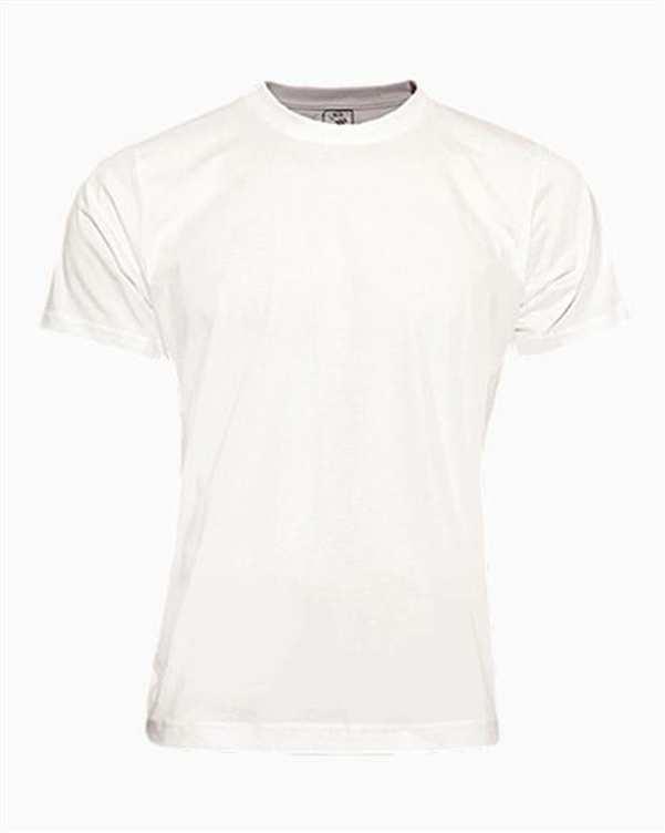 تی شرت مردانه نخی ساده سفید TS101 تکنیک
