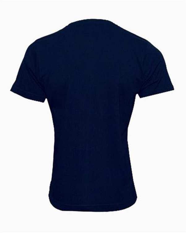 تی شرت مردانه نخی ساده سرمه ای TS101 تکنیک
