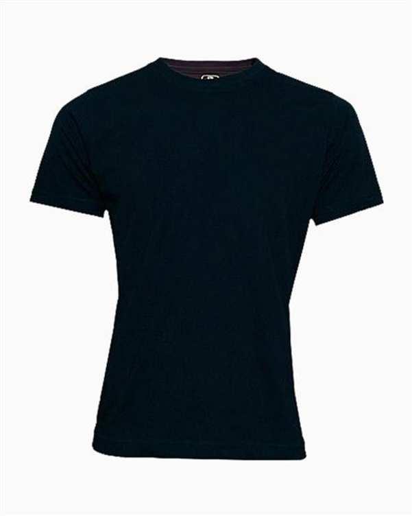 تی شرت مردانه نخی ساده مشکی TS101 تکنیک