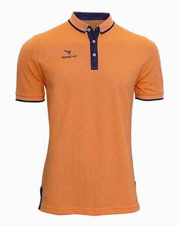 تی شرت ورزشی پنج دکمه نارنجی TS127 تکنیک