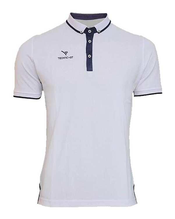 تی شرت ورزشی پنج دکمه سفید TS127 تکنیک