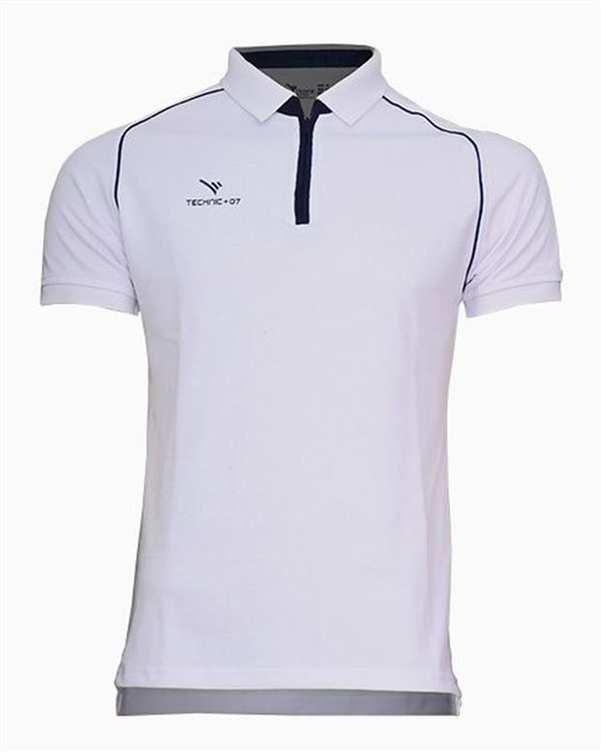 تی شرت ورزشی جودون نیم زیپ سفید TS124 تکنیک