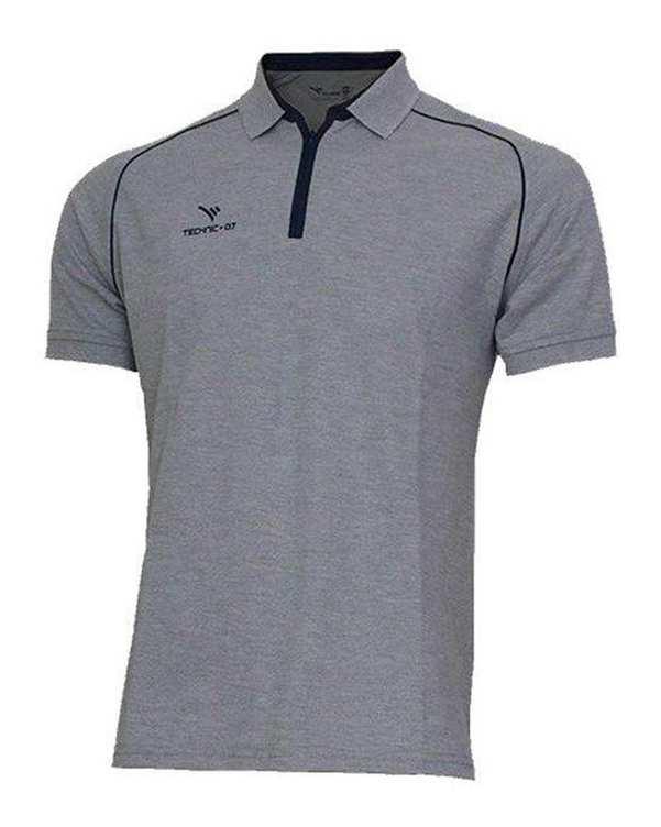 تی شرت ورزشی جودون نیم زیپ ملانژ TS124 تکنیک