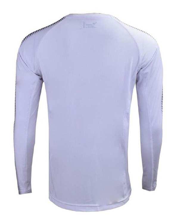 تی شرت ورزشی آستین بلند سفید TS133 تکنیک