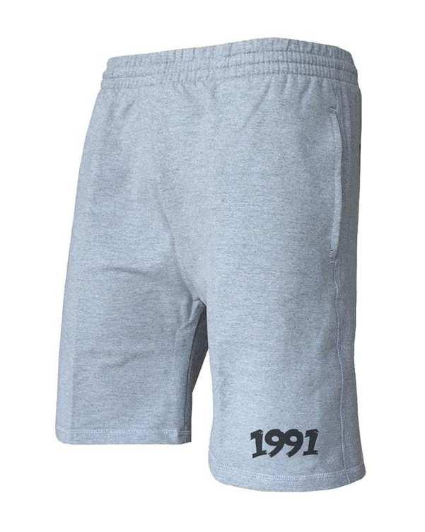 شلوارک ورزشی مردانه مدل Cotton jersey طوسی 1991
