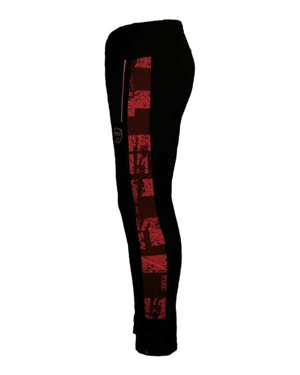 شلوار ورزشی مدل Metallic مشکی قرمز 1991