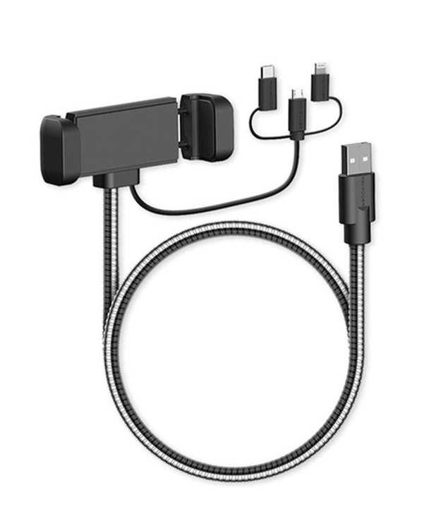 پایه نگهدارنده و شارژر گوشی 1 به 3 مدل RP-CB015 راوپاور