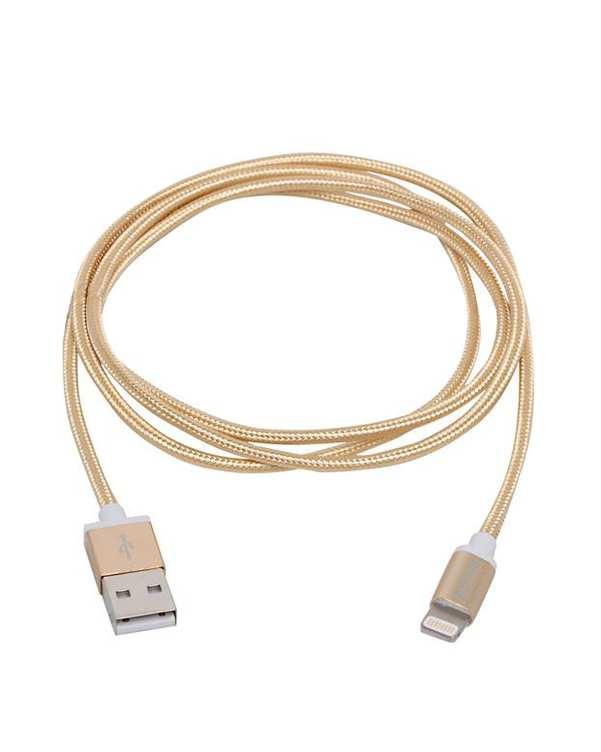 کابل تبدیل USB به لایتنینگ طلایی مدل DLC2508G طول 1.2 متر