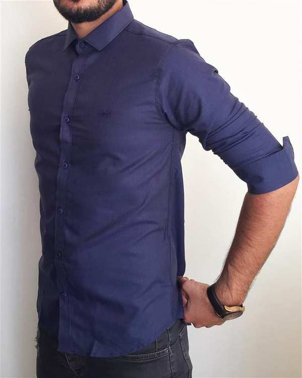 پیراهن مردانه سرمه ای والیانت