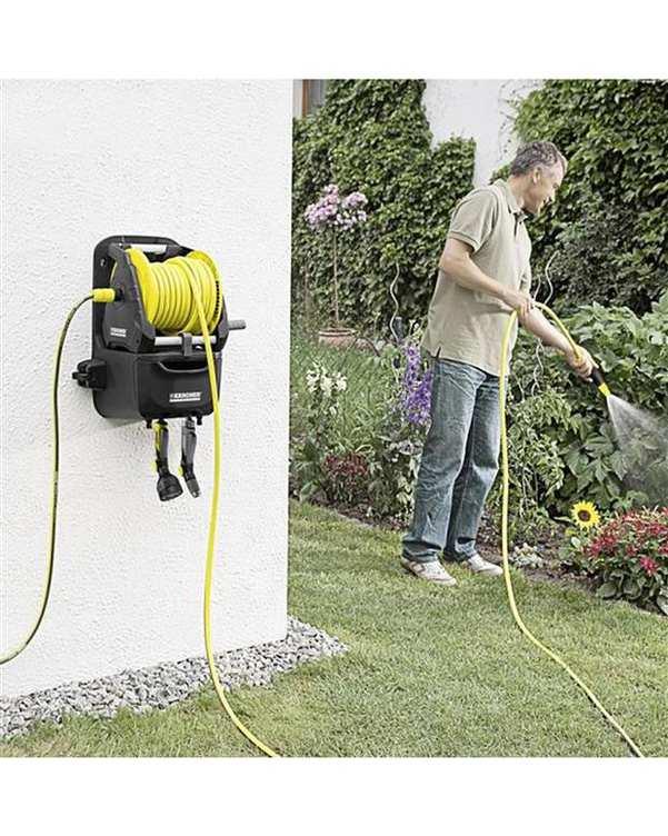 شلنگ جمع کن و شلنگ زرد HR 7.315 Premium کارچر