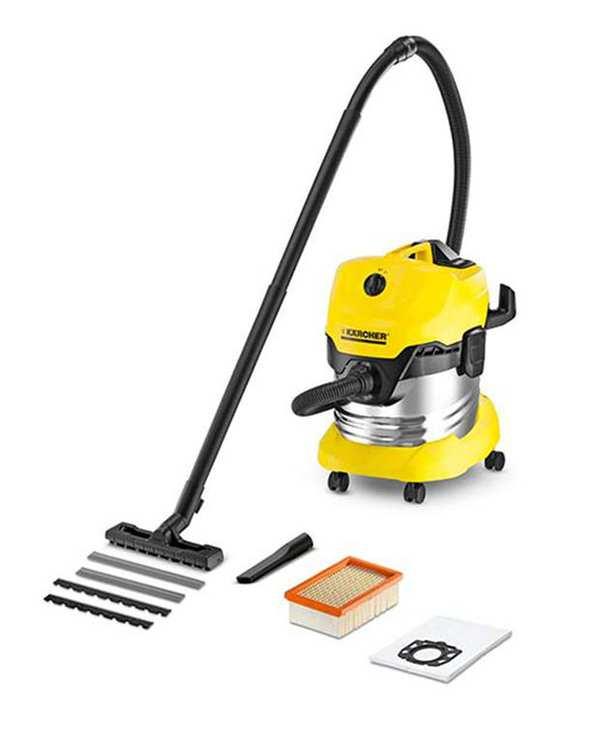 جاروبرقی آب و خاک مدل WD 4 Premium زرد کارچر