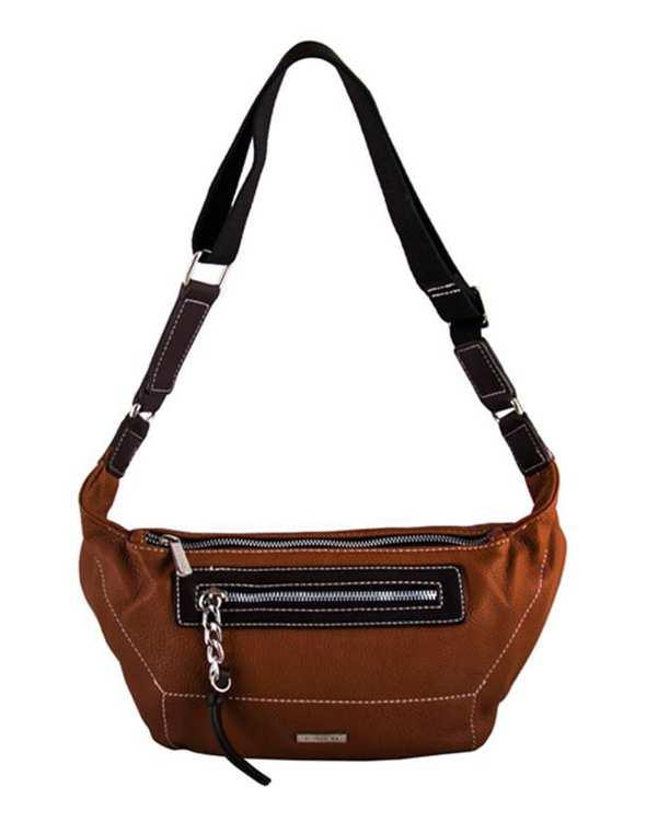 کیف کمری زنانه مدل Cm5407 قهوه ای دیوید جونز