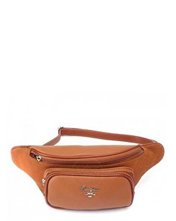 کیف کمری زنانه مدل 1-6170 قهوه ای دیوید جونز