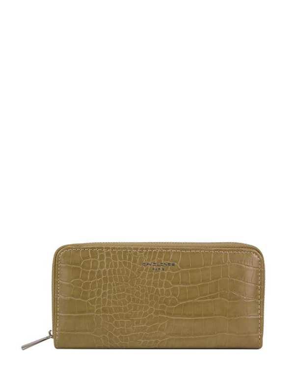 کیف پول زنانه مدل p092-510 خاکی دیوید جونز